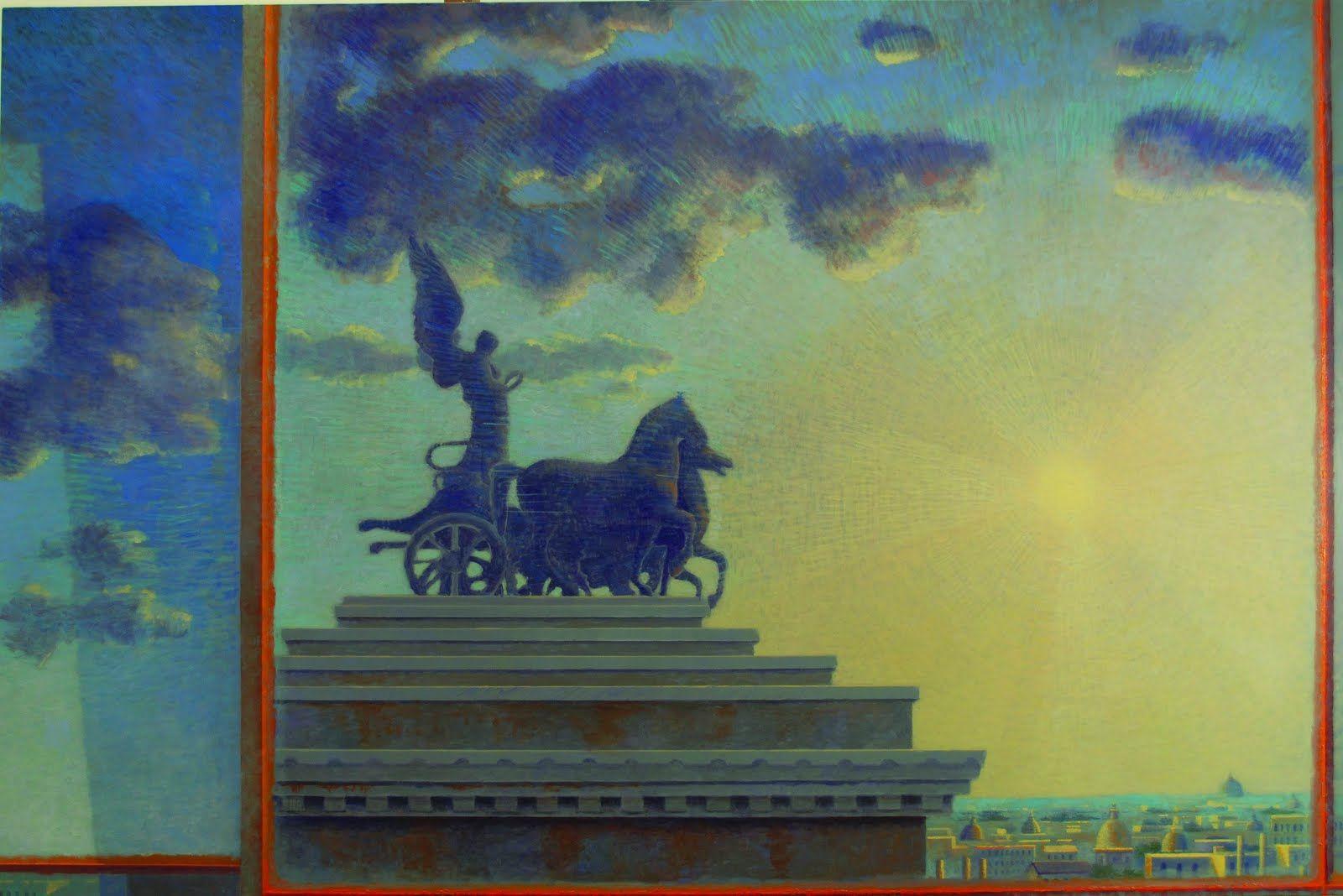 giuseppe-modica-cavalli-nel-cielo-di-roma-2013-huile-sur-toile-cm-100-x-150_0
